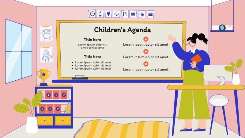Template for children's planner