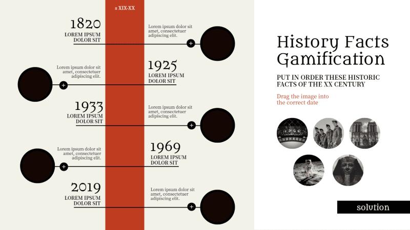 Modèle pour jouer à classer chronologiquement les faits historiques