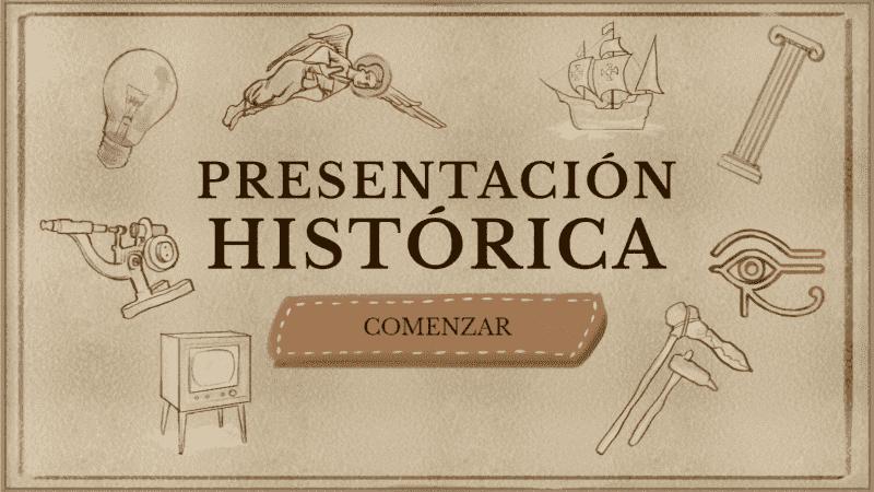 Plantillas para la vuelta al cole: presentación para clase de historia