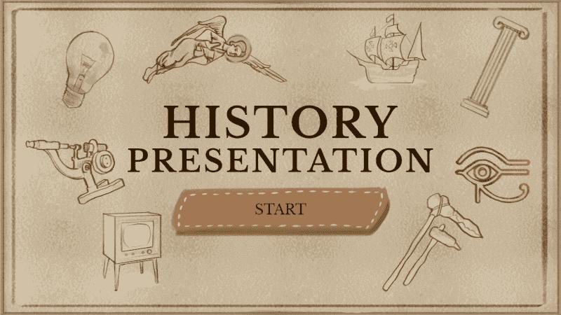 Modèles pour la rentrée : présentation pour les cours d'histoire