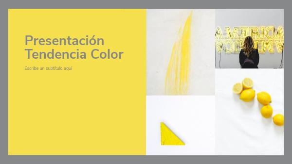 presentacion tendencia color